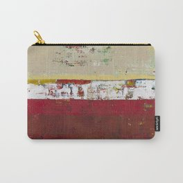 Buffalo Indian Red Burgundy Modern Abstract Art Carry-All Pouch