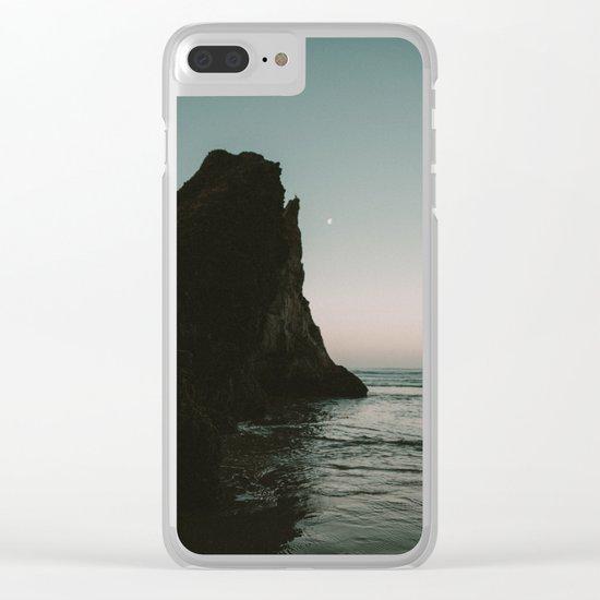 Oregon Coast Dark Ocean Clear iPhone Case