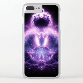 Purple Buddhabrot Fractal Art Clear iPhone Case