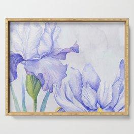 Watercolor Iris Serving Tray