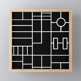 PS Grid Black Framed Mini Art Print