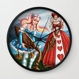 Steampunk Gothic Lolita Alice Croquet Wall Clock