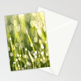 Beautiful Morning Dew On A Green Grass #decor #society6 #buyart Stationery Cards
