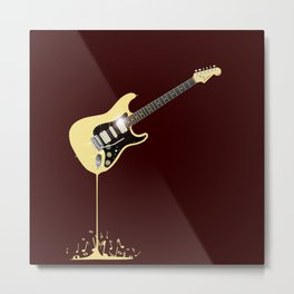 Fluid Guitar Metal Print