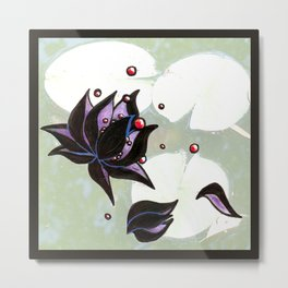 dark lotus Metal Print