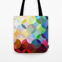 Tote Bags featuring Circular Motion by Steven Womack