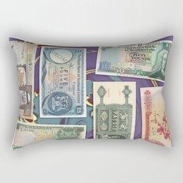 Money-Collage Rectangular Pillow