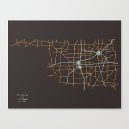Oklahoma Highways Canvas Print