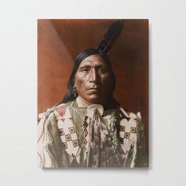 Little Hawk - Brulé - American Indian Metal Print