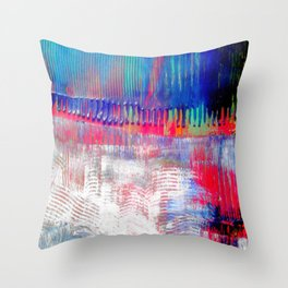 Color and white S42 Throw Pillow