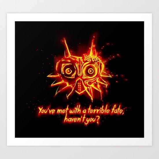 Majora's Mask Fire Art Print