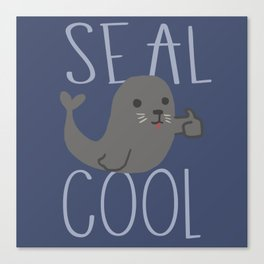 Seal cool Canvas Print