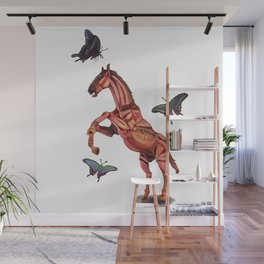 horse and butterfly Wall Mural