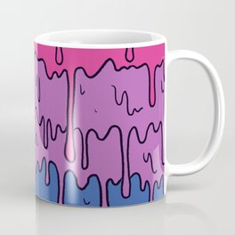 Pastel Kawaii Melting Bisexual Pride LGBTQ Design Coffee Mug