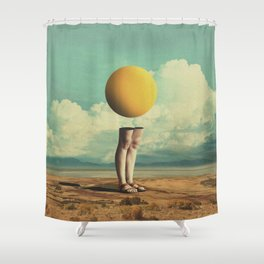Lone Poker-Face Shower Curtain