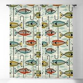 Vintage Color Block Fish Blackout Curtain