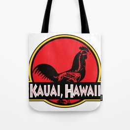 Kauai, Hawaii Jurassic Park Rooster Tote Bag