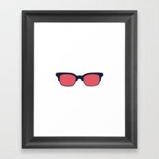 Sun Glasses on White Framed Art Print