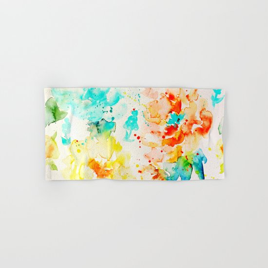 Abstract Flowers 05 Hand & Bath Towel