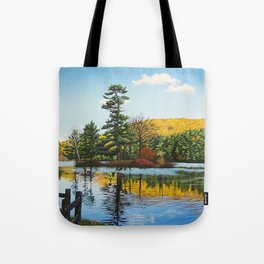 Ivy Island in Autumn Tote Bag