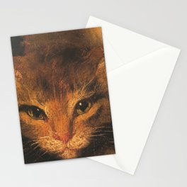 Cat in the art - Hoppner- Young woman with her son holding a cat - detail Stationery Cards