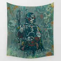 boba fett Wall Tapestries featuring Fett by Beery Method
