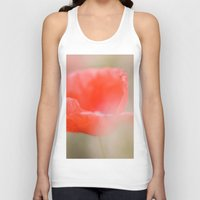 poetry Tank Tops featuring Poppies poetry by Kathleen Follert