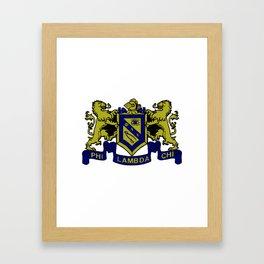 Phi Lambda Chi Crest Framed Art Print