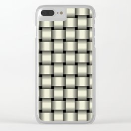 Beige Weave Clear iPhone Case