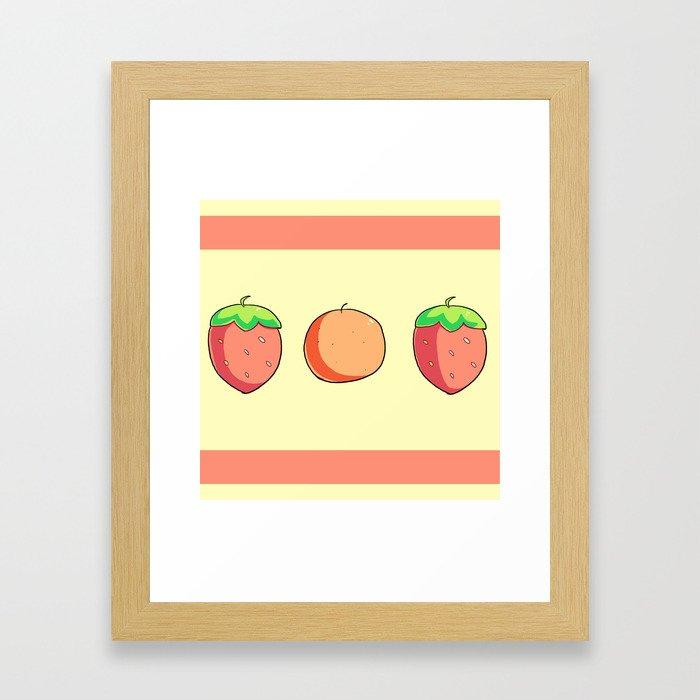 Strawberries and Oranges Framed Art Print