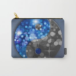 YIN & YANG Stars in blue black Carry-All Pouch