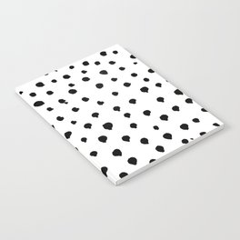 Dalmatian dots black Notebook
