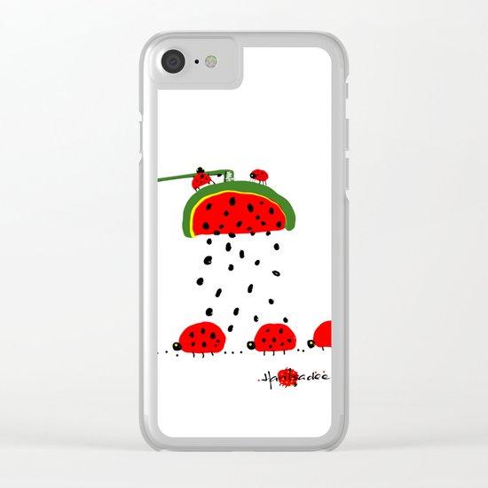 design 8 Clear iPhone Case