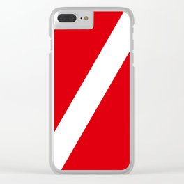 Diving flag Clear iPhone Case