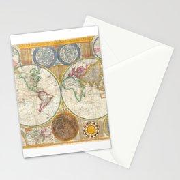 1794 Vintage World Map Samuel Dunn Stationery Cards