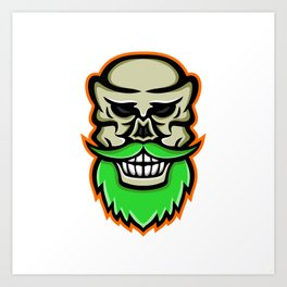 Bearded Skull or Cranium Mascot Art Print