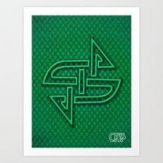 CELTIX #3.3 Vibrant Psychedelic Celtic Optical Illusion Design Art Print