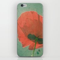 poppy iPhone & iPod Skins featuring Poppy by Cassia Beck