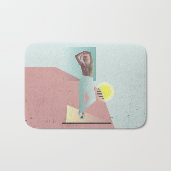 getting ready to party Bath Mat