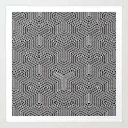 Odd one out Geometric Art Print