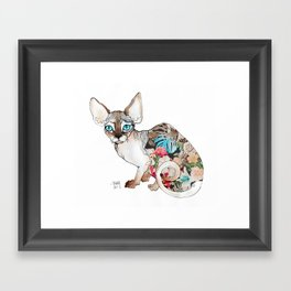 sphinx cat Framed Art Print
