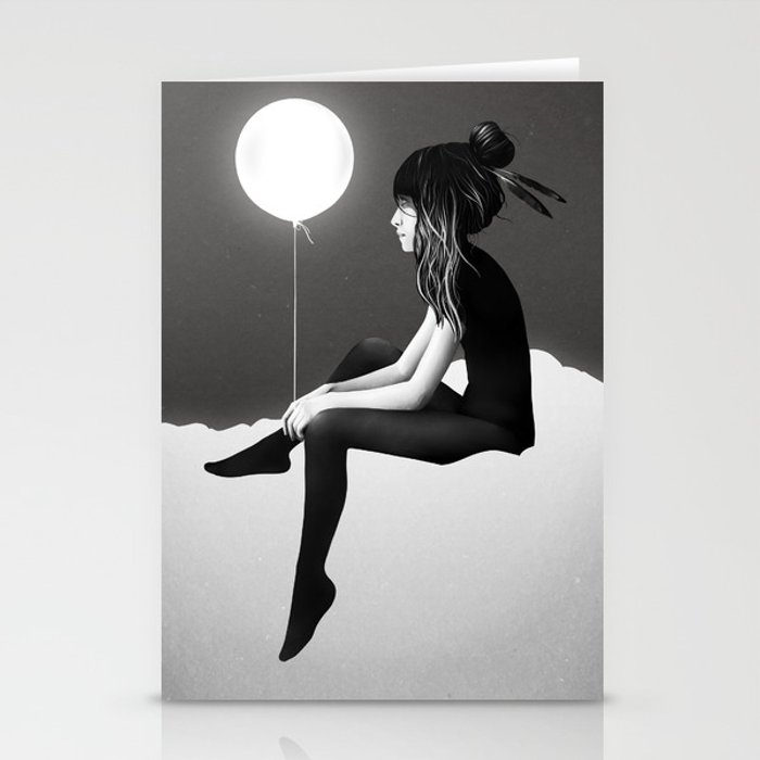 No Such Thing As Nothing (By Night) Stationery Cards