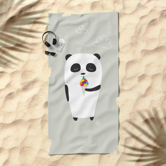 The Happy Ice Cream Beach Towel