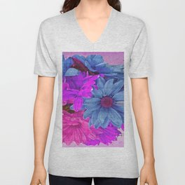 FLOWERS AND MUSIC Unisex V-Neck