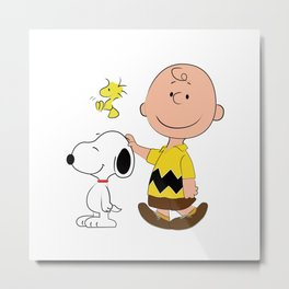 Charlie Brown & Friends Metal Print