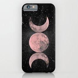 Pink Moon Symbol iPhone Case