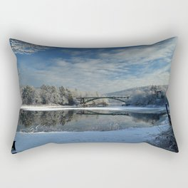 River View - Finally Looks Like Winter Rectangular Pillow