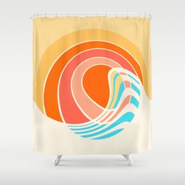 Sun Surf Shower Curtain