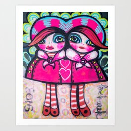 Conjoined Gretchens  Art Print