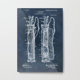 winslow caddy bag patent art Metal Print